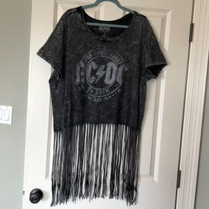 Torrid AC/DCtop with fringe